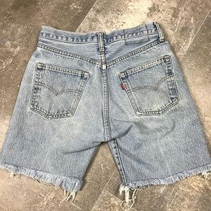 Vintage Levi's Button Fly Cut Off Festival Shorts
